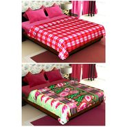 Set of 2 Polyester Double Size Printed Blanket-CA_1207-1215