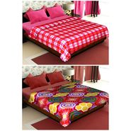 Set of 2 Polyester Double Size Printed Blanket-CA_1207-1218