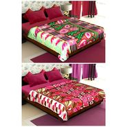 Set of 2 Polyester Double Size Printed Blanket-CA_1208-1215