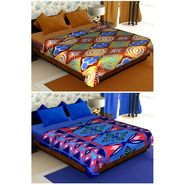 Set of 2 Polyester Double Size Printed Blanket-CA_1210-1216