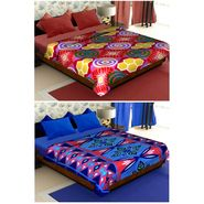 Set of 2 Polyester Double Size Printed Blanket-CA_1210-1218