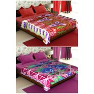 Set of 2 Polyester Double Size Printed AC Blanket-CA_1212-1217