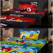 Set of 2 Angry Birds Kids Single Bedsheet with 2 Pillow Cover-CHFSBD101