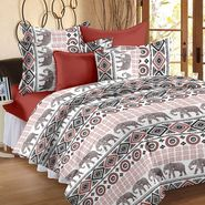 Storyathome 100% Cotton Double Bedsheet With 2 Pillow Cover-CN1260