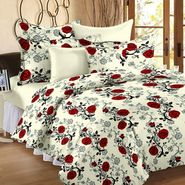 Storyathome 100% Cotton Double Bedsheet With 2 Pillow Cover-CN1407