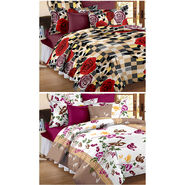 Set Of 2 Double Bedsheet With 4 Pillow Cover-CN_1261-CN1264