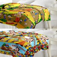 eCraftIndia Set of 2 Designer Printed Single Bed Reversible AC Blanket-COMHFD112