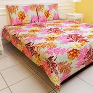 Carah Exclusive Pink Colour Double Bedsheet With Two Pillow Covers -CRH-DB114