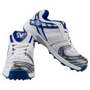 V22 Ultra Cricket Shoes  White & Blue Size - 9