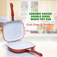 Ceramic Coated Double Sided Magic Fry Pan