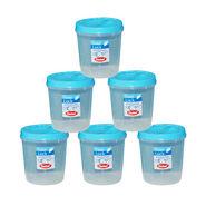 Chetan 6Pcs (2 Ltr) Twist Lock Kitchen Storage Container Set - Blue