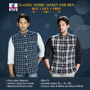 Classic Nehru Jacket for Men - Buy 1 Get 1 Free