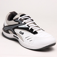 Columbus PU Sports Shoes - White & Grey-1552