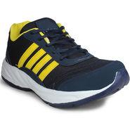 Columbus Mesh Blue & Yellow Sports Shoes -nsds112