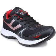 Columbus Mesh Black & Red Sports Shoes -nsds89