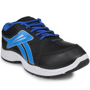 Columbus Synthetic Leather Black & Blue Sports Shoes -nsds24