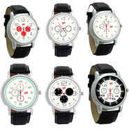 Pack of 6 Gledati Round Dial Men Watches_Gl136