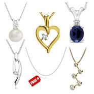 Combo of 5 Kiara Sterling Silver Pendents_C3