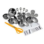 Birde 21 pcs stainless steel doga set with Chopper+Scissor