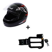 Combo of Branded Helmet + Helmet Lock