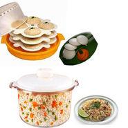 Combo of Microwaveable Idli Maker + Rice Cooker