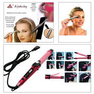 Combo of Professional 2 In 1 Hair Curler cum Straightener + Women Eyebrow Trimmer