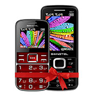 Combo of Swingtel Senior Phone SW50 Plus - Red + SW27 - Black
