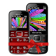 Combo of Swingtel Senior Phone SW50 Plus - Red + SW30 - Black
