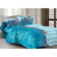 Valtellina 100% Cotton Double Bedsheet with 2 Pillow Cover-6002-D