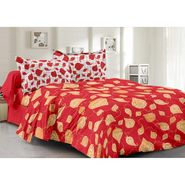 Valtellina 100% Cotton Double Bedsheet with 2 Pillow Cover-6008-B