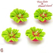Festive Special Green Floral Candle Diyas
