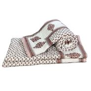 Set of 2 Jaipuri Print Cotton Double Bed Razai Quilt-DLI4DRZ3272