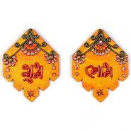 Little India Kundan Work Handmade Shubh Labh Door Hangings 277