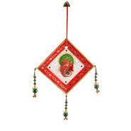 Little India Jodhpuri Kundan Work Marble Ganesha Wall Hanging 444