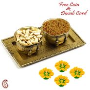 Aapno Rajasthan Dry fruit Bowl Set in Antique Finish and Diwali Hamper