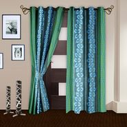 Story @ Home Aqua 2 pc Door curtain-7 feet-DNR3022