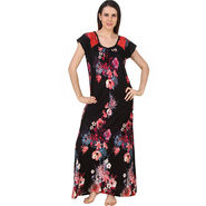 Fasense Shinker Cotton Floral Print Long Nighty -DP180A2