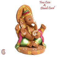 Golden Pooja Thali with Gotta Work
