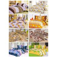 Set of 8 Poly Cotton Double Bedsheet With 16 Pillow Covers-DWBS-115