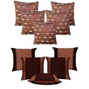 Dekor World Brown Loopy Cushion Cover Combo.(Pack of 10 Pcs)-DWCB-12-004