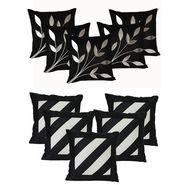 Dekor World Leaf Bonanza Cushion Cover (Pack of 10 Pcs)-DWCB-165