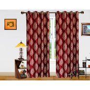 DEKOR WORLD MARRON BEIGE BAROQUE  EYELET Window Curtain 2 SET-DWCT-294-5