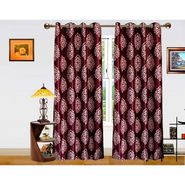 DEKOR WORLD  PURPLE MOOVE BAROQUE  EYELET Window Curtain 2 SET-DWCT-295-5