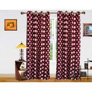DEKOR WORLD  PURPLE DOT  EYELET Window Curtain 2 SET-DWCT-299-5