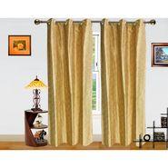 Pejali Pattern Beige Eyelet Window Curtain-Pack Of 2 -DWCT-387-5