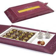 Gift Box with Anjeer Dryfruit cutlets and Laxmi Ganesh Idols_DWMB1402