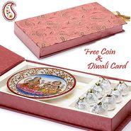 Aapno Rajasthan Gift Box with Kaju kalash and Laxmi Ganesh Plate