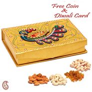 Gold Handcrafted Multipurpose Wood and Clay Work Box