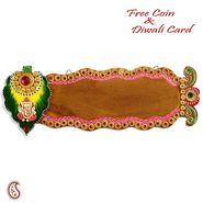 Shree Ganesh Name Board with wood and clay art work