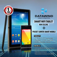 Datawind Smart WiFi Tablet - Non Calling + Pocket Surfer Smart Mobile